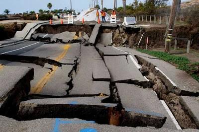 California, frana, faglia di San  Andreas